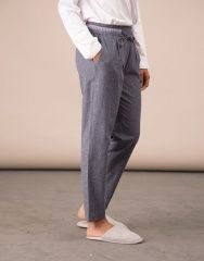 ropa pantalon franela detalle cintura rayas | natura
