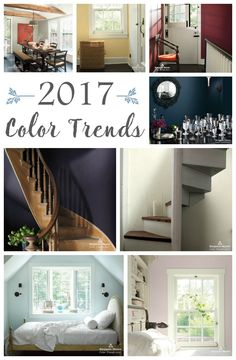 See the 24 gorgeous paint colors that are part of the 2017 Color Trends and also the Color of the Year from Benjamin Moore.