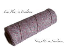 Bäcker-Garn Bakers Twine rosa von Fitzi Flöt auf DaWanda.com