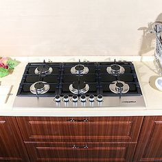 "appliances: 36"" New 3300W Electric Tempered Glass Built-in Kitchen 6 Burner Gas Hob Cooktops #Appliances - 36"" New 3300W Electric Tempered Glass Built-in Kitchen 6 Burner Gas Hob Cooktops..."