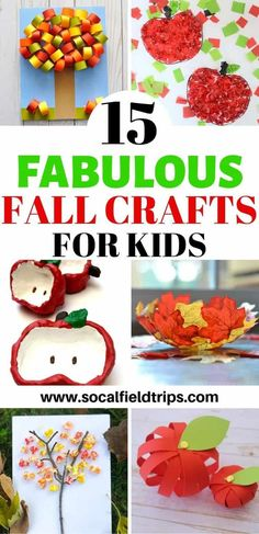 Whether you are getting your own kids together or have an entire group of children to entertain, I have gathered some fantastic fall craft ideas for you!  From making an apple stamped banner to a leaf suncatcher to a fall handprint tree craft, these15 Fabulous Fall Crafts For Kids are precisely what you need to start this fall off right!  Click here to learn more. #fall #fallcraft #autumn #diy #craft #kidscraft #preschoolcraft #toddlerpreschool #homeschool #homeschooling #applecraft #leafcraft