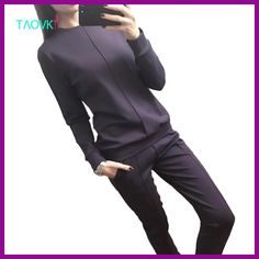 Cheap autumn tracksuit women, Buy Quality leisure suit directly from China suit suit Suppliers: TAOVK new fashion Russia style Women's Autumn Tracksuit Women Hoodies Set t-shirts+Long Pants) Leisure Suits Tailor Made Suits, Suits For Women, Clothes For Women, Tracksuit Pants, Suit Shop, Ali Express, Long Pants, Costumes For Women, T Shirts