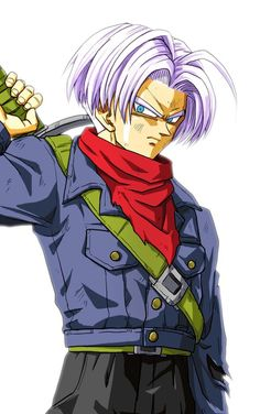 Future Trunks with DB Supers' outfit but purple hair, my fav