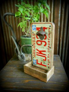 License Plate Bottle Opener with Cap Catcher  by TheHenryHouse, $35.00