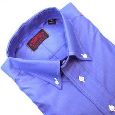 O'Connell's Long Sleeve Buttondown Sport Shirt - Super 120s Cotton - Blue Chambray
