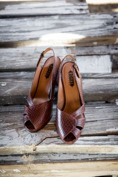 ce1cfddd64cd Dolores 1940s Slingback Shoes by Royal Vintage (Brown)