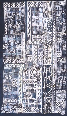 An N'dop ceremonial hanging from Cameroon with woven cotton and stitch resist indigo-dyed. Graphic Patterns, Print Patterns, African Textiles, Moody Blues, Indigo Dye, Blue Aesthetic, African Art, Woven Cotton, Fiber Art