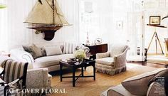 Living room nautical white black accents eclectic home decor ideas