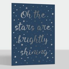 Brightly Shining Foil Folded Holiday Cards