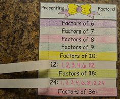 love2learn2day: Factors & Multiples: Flap Books & Online Games