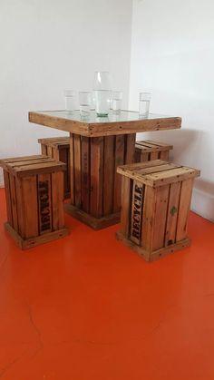 Wooden Crates, Pallet Furniture, Patio, Table, Home Decor, Balcony Decoration, Home, Home Furniture, Mexican Restaurant Decor