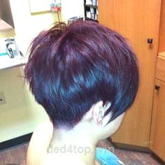 Back view of a pixie haircut…