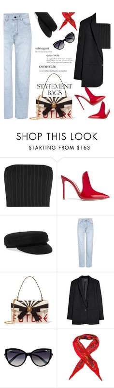"""""""STATEMENT BAG : Like This"""" by riskiarrafida ❤ liked on Polyvore featuring Thierry Mugler, Gianvito Rossi, Isabel Marant, Yves Saint Laurent, Gucci, La Perla, GANT and Hermès"""