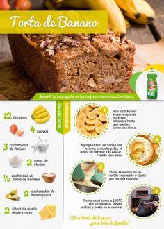 Torta de banano #recetas #Saludable #delicioso