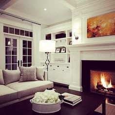 Love the built ins. Just add the tv over the fireplace!
