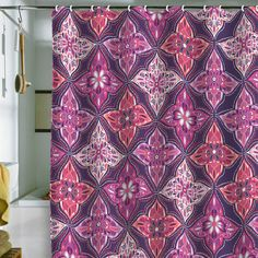 "Khristian A Howell ""Provencal Lavender 5"" Shower Curtain - Really liking this fabric design."