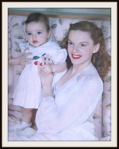 Lovely shot of Judy Garland and baby daughter, Liza Minnelli
