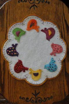 Tweety Birds Wool Applique Candle Mat Pattern by yogybooboo, $9.00