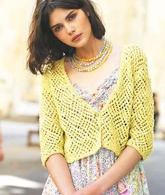 woman wearing a lacy cardigan - Get the lacy look: free knitting patterns - Craft - allaboutyou.com
