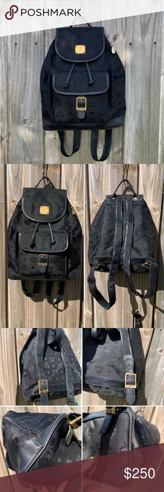 2542e72ec24 🖤🎧AUTHENTIC MCM Jacquard backpack🎧🖤 Overall: Good pre-owned condition  with signs of use. Please review all the pictures before purchase. Depth.