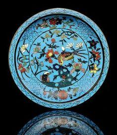 Cloisonné plate, Ming Dynasty (1368-1644
