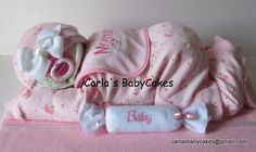 Sleeping Baby Diaper Cake   Diaper Cake Baby  by MsCarlasBabyCakes, $50.00