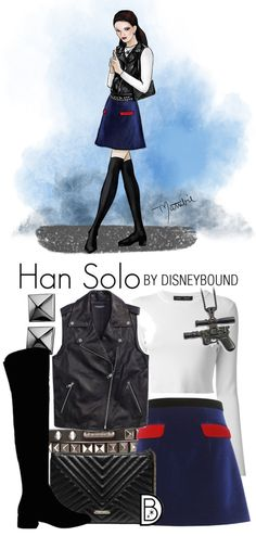 These Star Wars DisneyBound Sketches Are Out of This World - Ideas of Star Wars Outfits - Star Wars outfit idea inspired by Han Solo and created in collaboration by DisneyBound's Leslie Kay and artist Matthew Simpson. Character Inspired Outfits, Disney Inspired Outfits, Disney Outfits, Disney Style, Cute Outfits, Disney Bound Outfits Casual, Disney Fashion, Star Wars Outfits, Themed Outfits