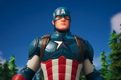 Captain America is now in Fortnite Captin America, Marvel Captain America, Radio Usa, Best Gaming Wallpapers, Best Trailers, Epic Games Fortnite, Battle Royale Game, Neck And Back Pain, Trend News