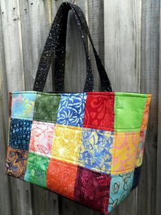 Batik Patchwork Quilted tote  Beach Bag by QuiltingDiva on Etsy