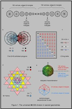 The universal 48:336 division in sacred geometries