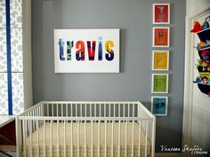 Vanessa Shaffer Designs Construction Themed Nursery Crib And Sign Twin Room Nursery Artwork And Sign Construction Nursery Themed