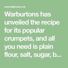 Warburtons shares secret crumpet recipe so you can recreate it at home Crumpet Recipe, Baking Recipes, Dessert Recipes, New Recipes For Dinner, South African Recipes, Vegan Bread, Marmite, No Bake Treats, Desert Recipes