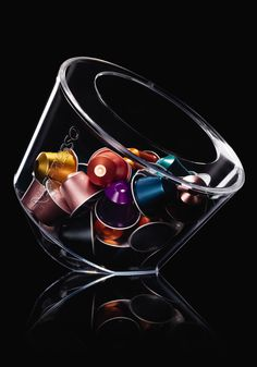 Nespresso Bonbonniere Capsule Dispenser | Organize and exhibit your Grand Cru coffee capsules in classic Nespresso form.
