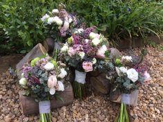 Spring hand tied wedding bouquet