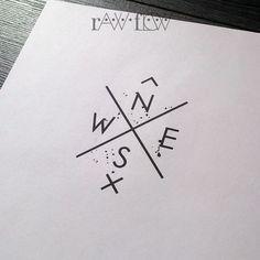Compass tattoo for wrist minimalist geometric tattoo