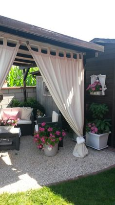 My home! Even though ancient inside strategy, the particular pergola has become enduring somewhat Wood Pergola, Backyard Pergola, Pergola Shade, Backyard Landscaping, Pergola Ideas, Outdoor Pergola, Outdoor Curtains For Patio, Modern Pergola, Modern Backyard