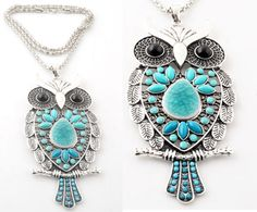 Cool blue owl necklace! Now available for wholesale at #Snowfall #Beads here: http://www.snowfall-beads.com/shopitem.asp?id=35907
