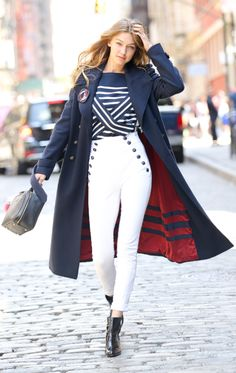 Gigi Hadid ♥ on set of her photoshoot for Tommy Hilfiger's new editorial  shoot for Tommy