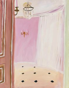 Karen Kilimnik (American, b. 1955), The Pink Room, 2002. Oil on canvas.