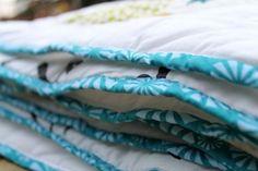 chevron quilt, birch fabric, binding