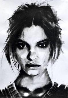 """Saatchi Art Artist Denny Stoekenbroek; Drawing, """"Julia"""" #art"""