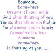 Someone is thinking about YOU! :)