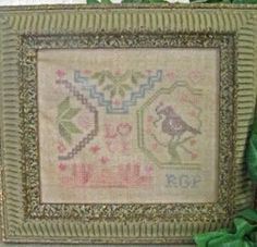 Love Mini Sampler is the title of this cross stitch pattern from Wendy From The Heart Designs that is stitched with Classic Colorworks
