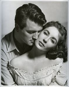 Rock Hudson & Elizabeth Taylor, publicity shot for Giant (George Stevens, 1956)
