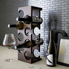 Brandy and Wine. Looking To Enjoy Your Wine More? Are you seeking greater knowledge about wine? Perhaps you would like to wow one of your friends with your knowledge. Wine Shelves, Wine Storage, Kitchen Storage, Wine Rack Design, Rustic Wine Racks, Modern Wine Rack, Modern Bar, Home Bar Accessories, Bois Diy