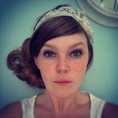 Crystal and pearl headdress