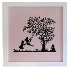 'Tree Swing' PaperCut Artwork (framed) by Hardwick & Cesko Manos Tattoo, Buy Gifts Online, Gifts Australia, Japanese Garden Design, Paper Artist, Paper Cutting, Folk Art, Art Drawings, Unique Gifts