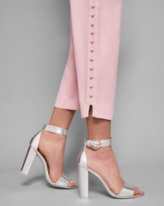 Pearl detail trousers - Dusky Pink | Back To The Fuchsia | Ted Baker UK