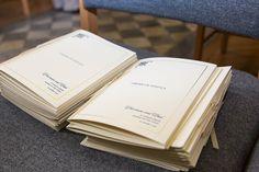 Order of Service booklets created by #fineinvitations #weddingstationerysydney