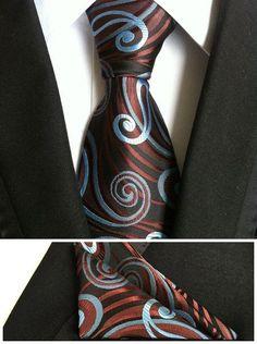 paisley mens fashion ties for men neckties business dress polyester silk tie jacquard casual necktie tie handkerchief set TZ001